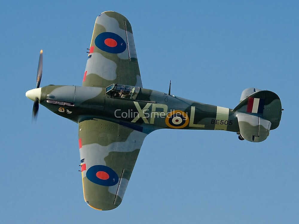 Hurricane IIB BE505/XP-L G-HHII banking in the sunshine by Colin Smedley
