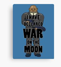War on the Moon Canvas Print