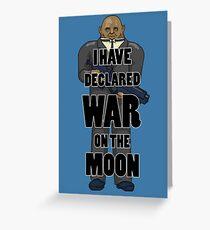 War on the Moon Greeting Card