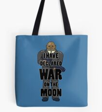 War on the Moon Tote Bag