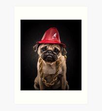 The Pug Life - LL Cool Pug Art Print