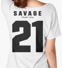 21 Savage Jersey (BLACK) Women's Relaxed Fit T-Shirt