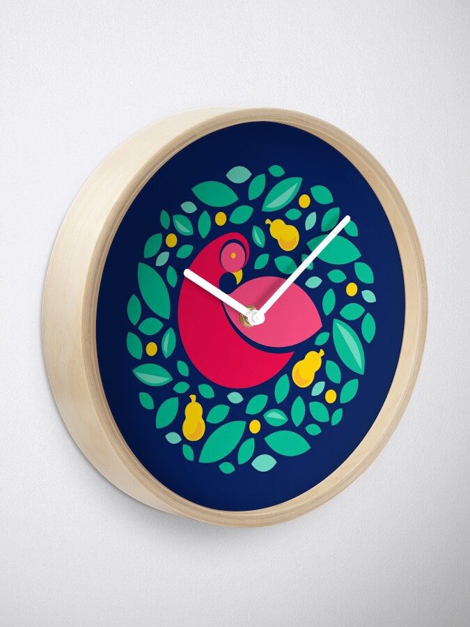 Alternate view of Partridge in a Pear Tree Clock