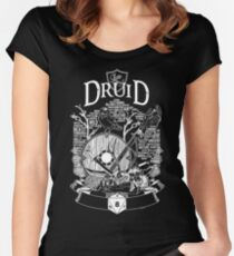 RPG Class Series: Druid - White Version Women's Fitted Scoop T-Shirt