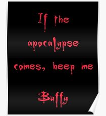 Buffy the Vampire Slayer, Buffy Summers, Angel, Willow, Spike, Sunnydale Poster