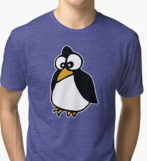 penguin penguin linux cartoon Tri-blend T-Shirt