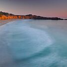 Sonoma County Coast Surf Sunset by David Galson