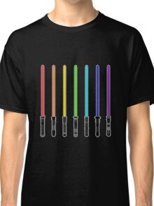 What Color is Your LightSaber Star Wars Rainbow Classic T-Shirt