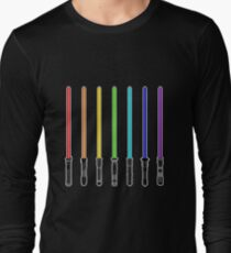 What Color is Your LightSaber Star Wars Rainbow T-Shirt
