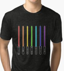 What Color is Your LightSaber Star Wars Rainbow Tri-blend T-Shirt