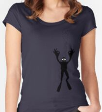 OK DIVER Women's Fitted Scoop T-Shirt