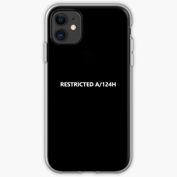 RESTRICTED A/124H - HUMANS iPhone Soft Case