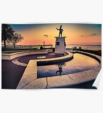 Ponce De Leon at Sunset Poster