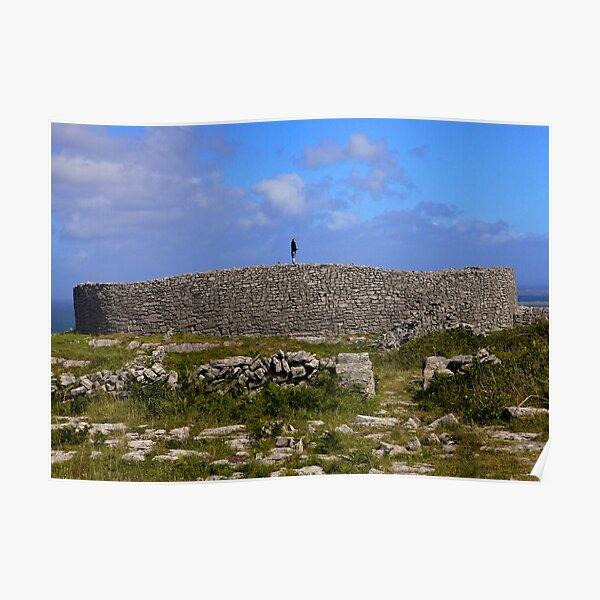 Dun Eochla Stone Fort - Inishmore Poster