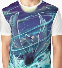 "Lugia ""Lord of the Sea"" Pokémon Silver and Gold Graphic T-Shirt"