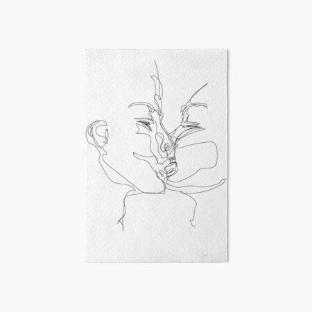 Kissing Art Board Print