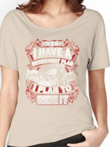 Motorcycle Biker Yes I Have a Retirement Plan I Plan To Ride It Vintage Distressed Bike Harley Retired Women's Relaxed Fit T-Shirt