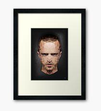 Jesse Pinkman - Portrait - Low Poly Framed Print