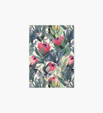 Painted Protea Pattern Art Board