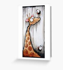 The Giraffe and the crows Greeting Card