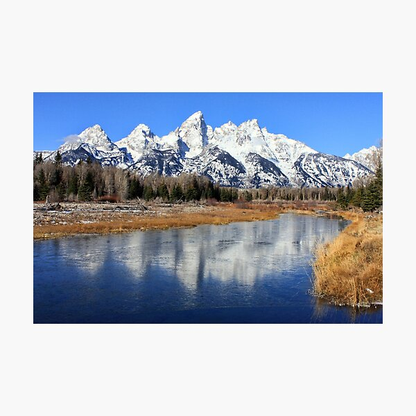 Icy Mirror, Jackson Wyoming. Photographic Print