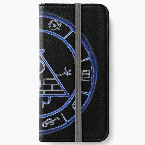 Bill Cipher Zodiac in Blue iPhone Wallet