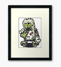 Zombie Game boy Framed Print