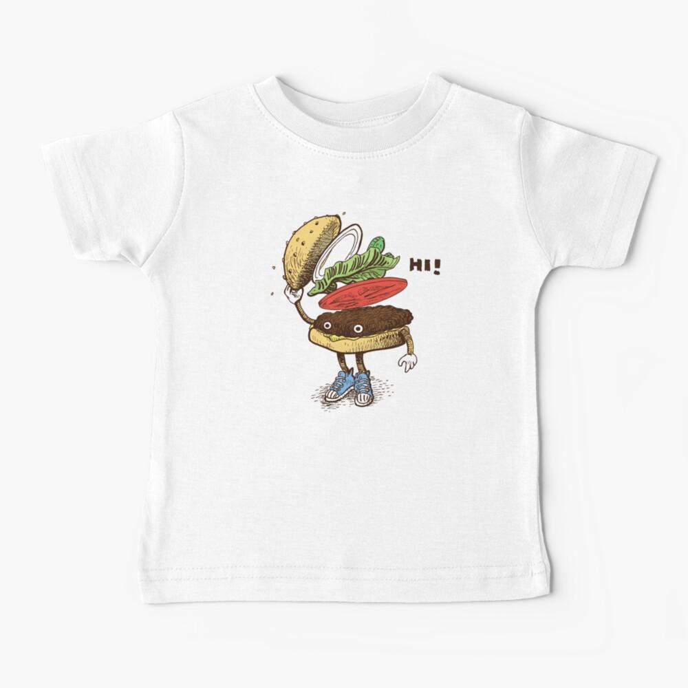 Burger Greeting Baby T-Shirt