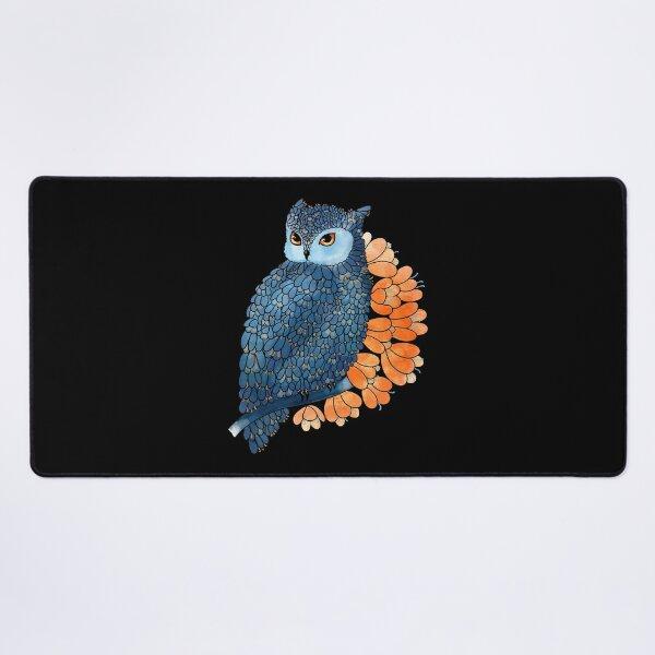 Blossoming owl Desk Mat