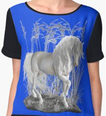 Ivory .. a white stallion Chiffon Top