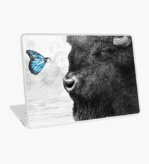 Bison and Butterfly Laptop Skin