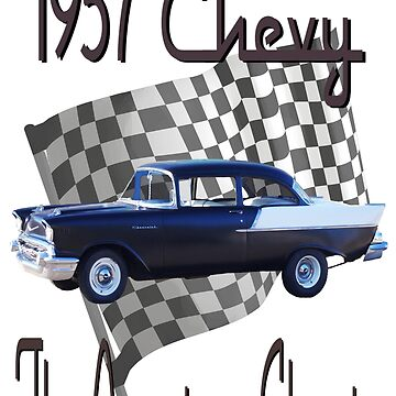 57 Chevy - Finish Line - American Classic by seansdigitalart