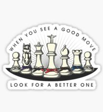 Martial Arts Chess Pieces Sticker