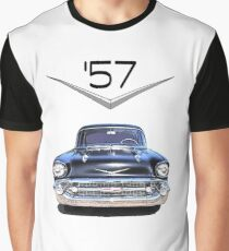 57 Chevy - Front View - Chromework Logo Graphic T-Shirt
