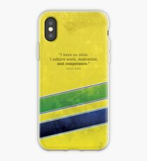"Ayrton Senna - ""I have no idols."" iPhone Case"