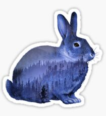 Misty Forest Bunny - Purple Sticker