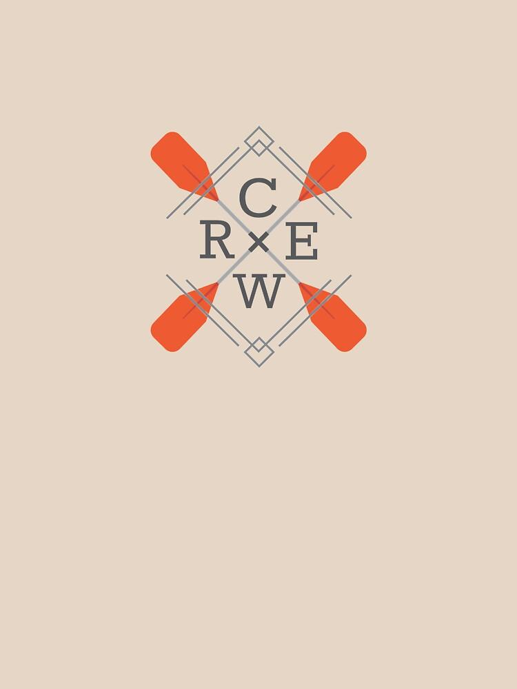 Crew Rowing Row  by WaderTees