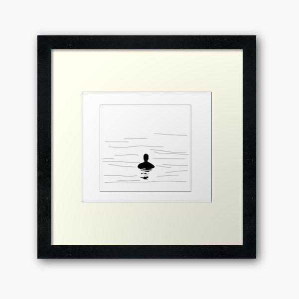 Submerged line art Framed Art Print