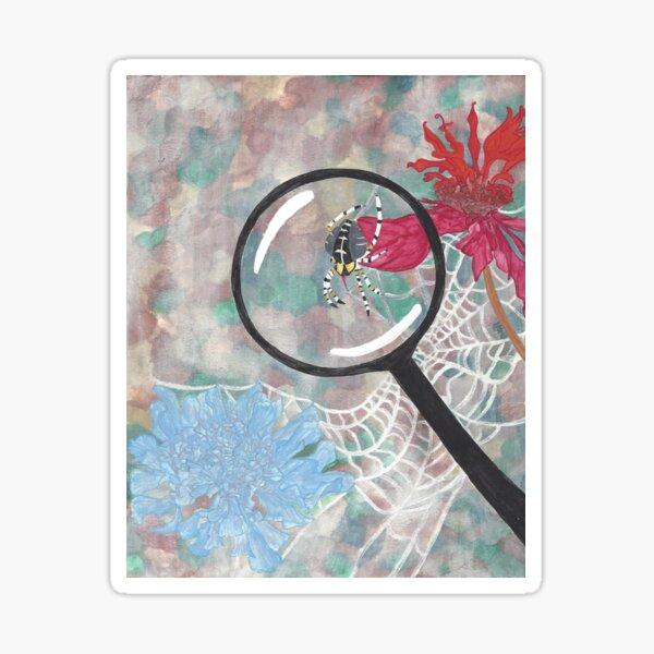 Magnifying Glass Spider Sticker
