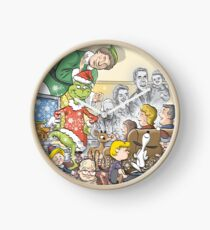 Christmas Classic characters Clock