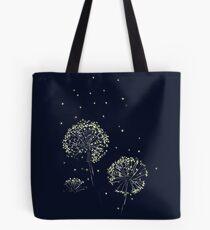 Dandelions and Fireflies Tote Bag