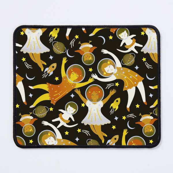 Girls in space - golden Mouse Pad