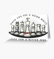 Martial Arts Chess Pieces Greeting Card