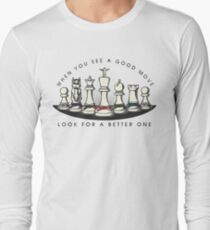 Martial Arts Chess Pieces Long Sleeve T-Shirt