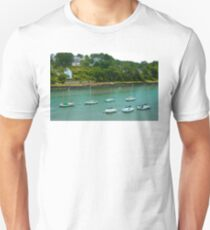 River of Le Bono Auray Brittany France - Tilt Shift Effect Unisex T-Shirt