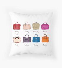 Stylish Handbag Week Throw Pillow