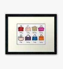Stylish Handbag Week Framed Print