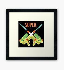SUPER.  Framed Print