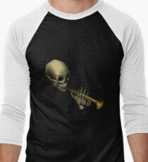 Spooky Skeltal Trumpet Men's Baseball ¾ T-Shirt
