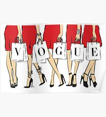 VOGUE shopping Girls Poster